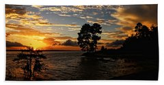 Cypress Bend Resort Sunset Hand Towel by Judy Vincent