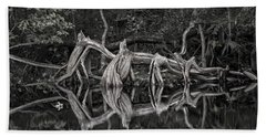 Hand Towel featuring the photograph Cypress Design by Steven Sparks