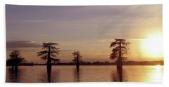 Cypress Sunset Bath Towel by Sheila Ping