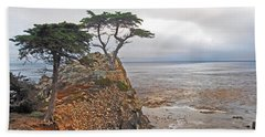 Cypress Tree At Pebble Beach Hand Towel