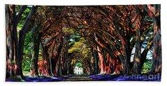 Cypress Tree Tunnel Bath Towel