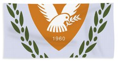Cyprus Coat Of Arms Hand Towel by Movie Poster Prints