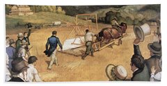 Cyrus H Mccormick And His Reaping Machine Hand Towel