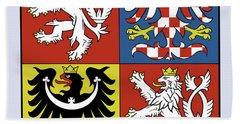 Czech Republic Coat Of Arms Bath Towel by Movie Poster Prints