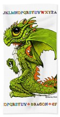 D Is For Dragon Bath Towel by Stanley Morrison