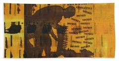 D U Rounds Project, Print 9 Hand Towel