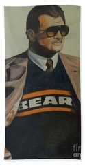 Hand Towel featuring the drawing Da Coach Ditka by Melissa Goodrich