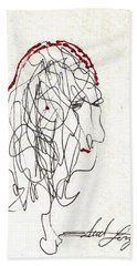 Da Vinci Drawing Hand Towel