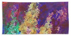 Bath Towel featuring the mixed media Dabble Flowers by Writermore Arts