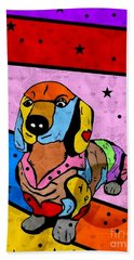 Dachshund By Nico Bielow Bath Towel