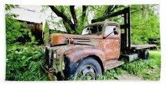 Dads Old Flatbed Truck. Bath Towel