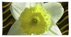 Daffodil Swirl Hand Towel