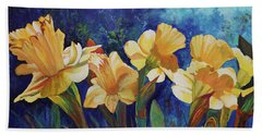 Daffodils Bath Towel by Alika Kumar