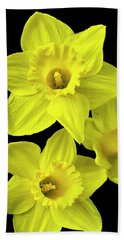 Hand Towel featuring the photograph Daffodils by Christina Rollo
