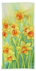Daffodils In Yellow Hand Towel