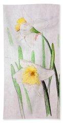 Daffodils Bath Towel by J R Seymour