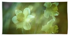 Daffodils1 Hand Towel by Loni Collins