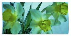 Daffodils2 Bath Towel by Loni Collins