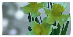 Daffodils3 Hand Towel by Loni Collins
