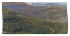 Dagrar Over Salenfjallen - Shifting Daylight Over Distant Horizon 1 Of 10_0034 50x50 Cm Bath Towel