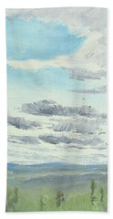 Dagrar Over Salenfjallen- Shifting Daylight Over Distant Horizon 10 Of 10_0029 Bath Towel