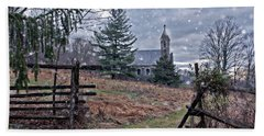 Dahlgren Chapel Winter Scene Bath Towel