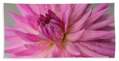 Hand Towel featuring the photograph Dahlia After The Rain by Mary Jo Allen