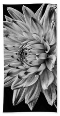 Dahlia Beauty In Black And White Hand Towel