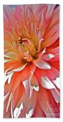Hand Towel featuring the photograph Dahlia Blush by Linda Bianic
