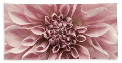 Dahlia Closeup In Rose Quartz Bath Towel
