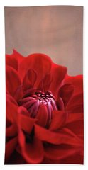 Dahlia Dalliance  Hand Towel by Marion Cullen