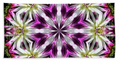 Dahlia Flower Circle Bath Towel