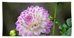 Dahlia Flower Hand Towel