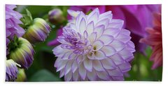 Dahlia Bath Towel by Glenn Franco Simmons