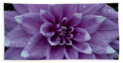 Dahlia In Rain Bath Towel by Shirley Heyn