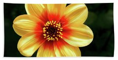Dahlias Flower - Yellow Tones Bath Towel