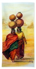 Daily Desert Dance Bath Towel by Alika Kumar