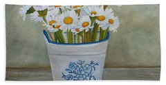 Daisies And Porcelain Hand Towel