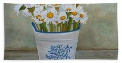 Daisies And Porcelain Bath Towel