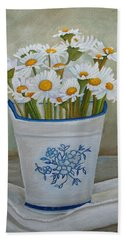 Daisies And Porcelain Bath Towel