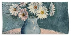 Daisies Bath Towel by Janet King
