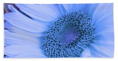 Daisy Blue Bath Towel by Marie Leslie