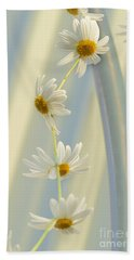 Daisy Chain Hand Towel by Elaine Teague