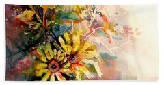 Daisy Day Hand Towel by Linda Shackelford