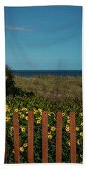Daisy Dune Fence Delray Beach Florida Bath Towel