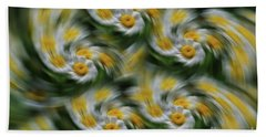 Hand Towel featuring the photograph Daisy Fever by Rachel Cohen
