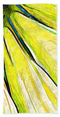 Daisy Petal Abstract In Lemon-lime Bath Towel
