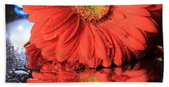 Daisy Reflections Bath Towel by Angela Murdock