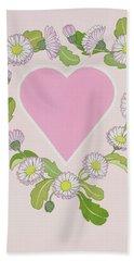 Daisy Valentine Hand Towel