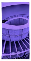 Dali Museum Staircase In Purple Hand Towel